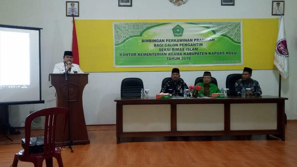 Bimbingan Perkawinan Pranikah Bagi Calon Pengantin Seksi Bimas Kementerian Agama Kabupaten Kapuas Hulu