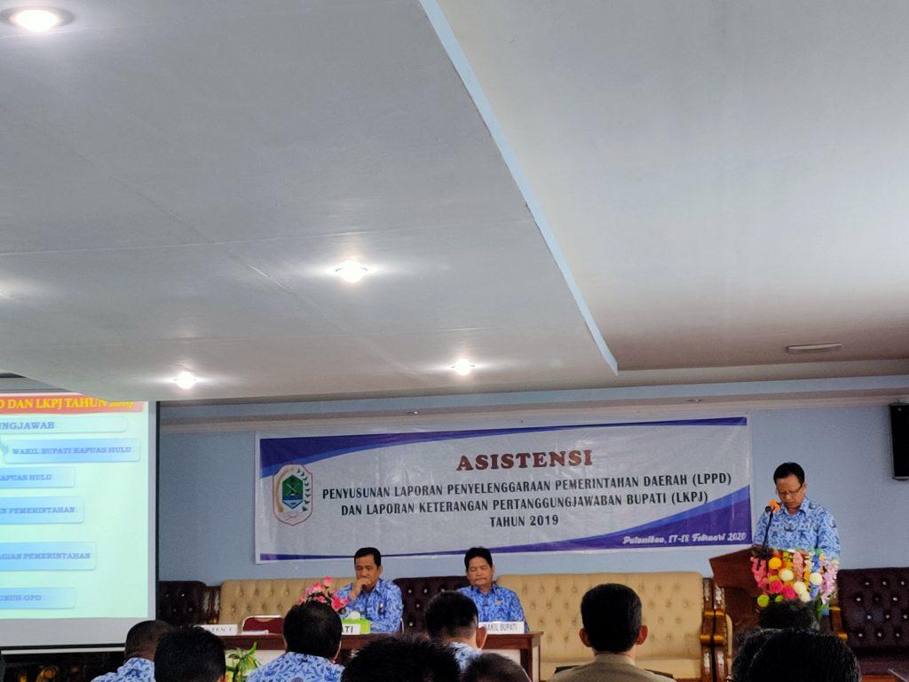 Bupati Kapuas Hulu Menghadiri Asistensi Penyusunan LPPD  Pemerintahan Daerah Kabupaten Kapuas Hulu