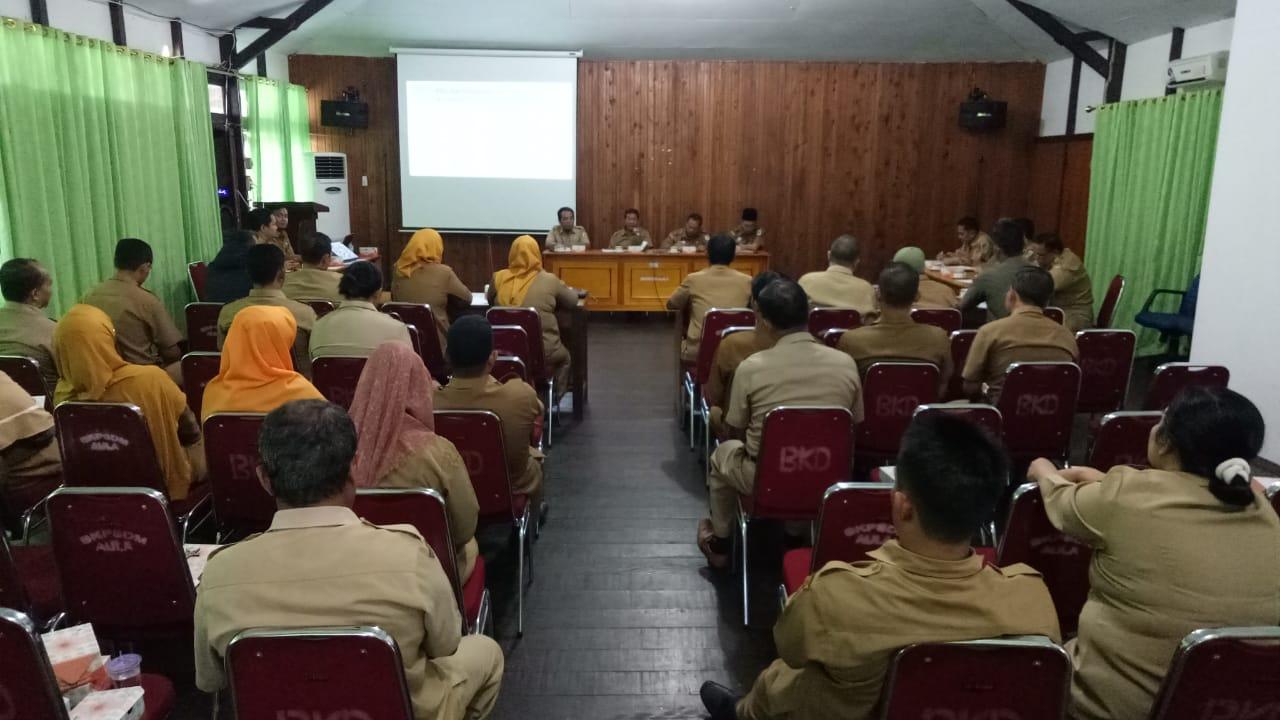 Menjelang Tes SKD CPNS Formasi Tahun 2019, BKPSDM Laksanakan Rapat bersama Inspektorat, Dinkes dan SatPol PP