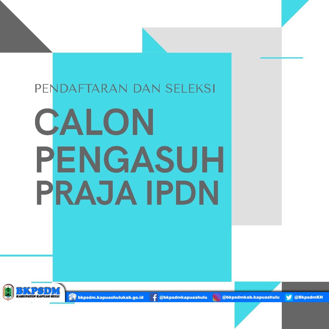 Pendaftaran dan Seleksi Calon Pengasuh Praja IPDN