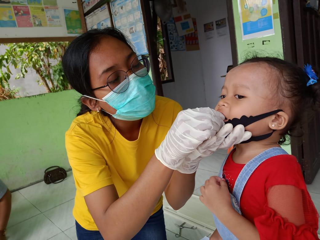 Puskesmas Empanang Imunisasi Pemberian Vitamin A di Desa Bajau Andai