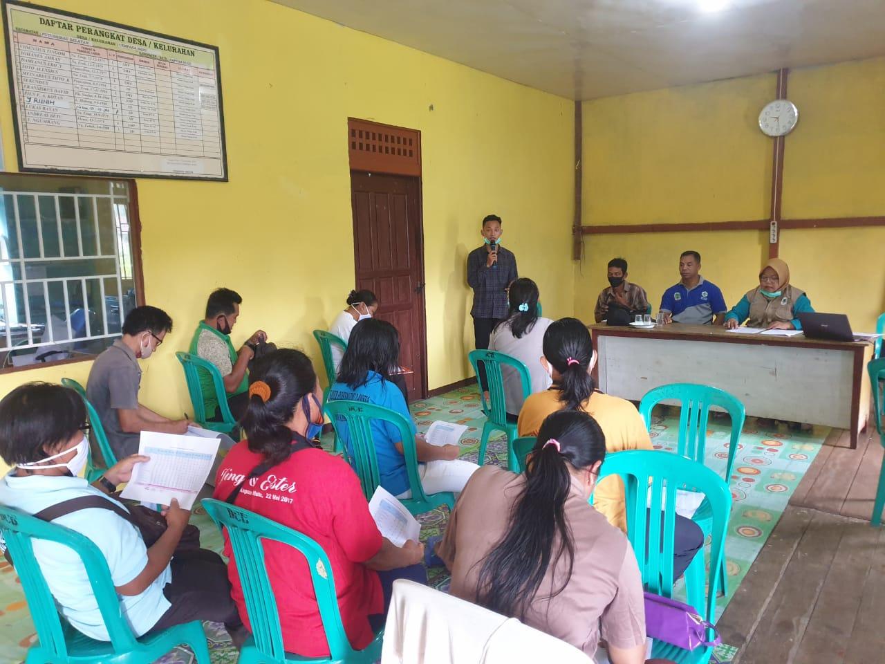 Puskesmas Putussibau Selatan Adakan Sosialisasi dan Advokasi Intervensi PISPK di Desa Cempaka Baru