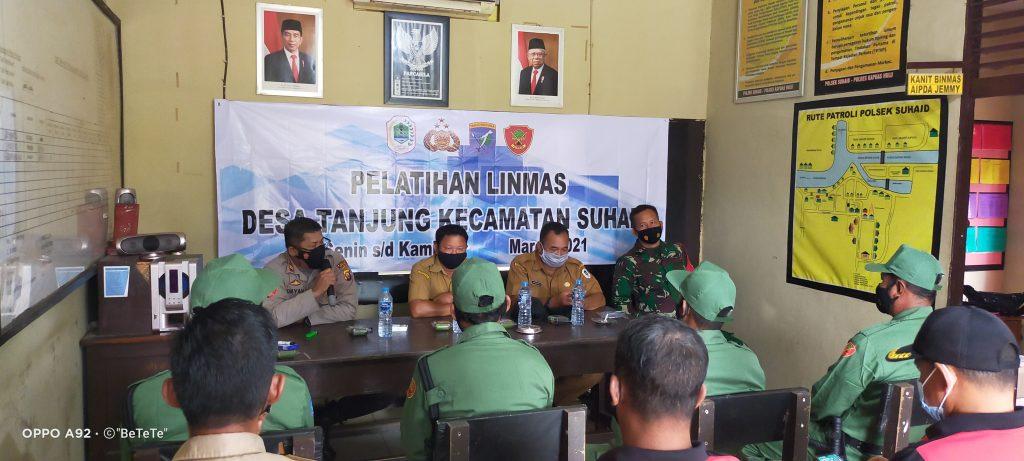 Pentingnya Linmas, 4 Warga Desa Tanjung Lakukan Pelatihan Di Polsek Suhaid