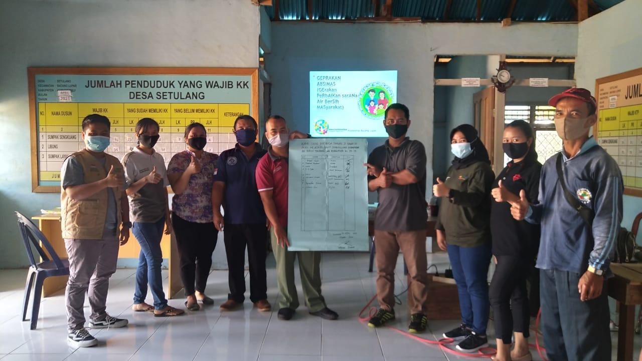 Aparatur Desa Setulang Siap Dukung Gerakan Perbaikan Sarana Air Bersih Masyarakat