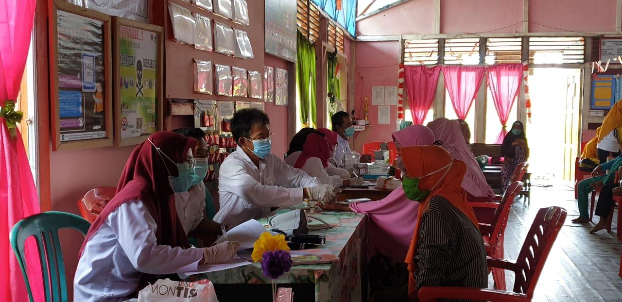 Bumil Desa Nanga Palin Terima Pelayanan ANC dan Pemeriksaan Laboratorium