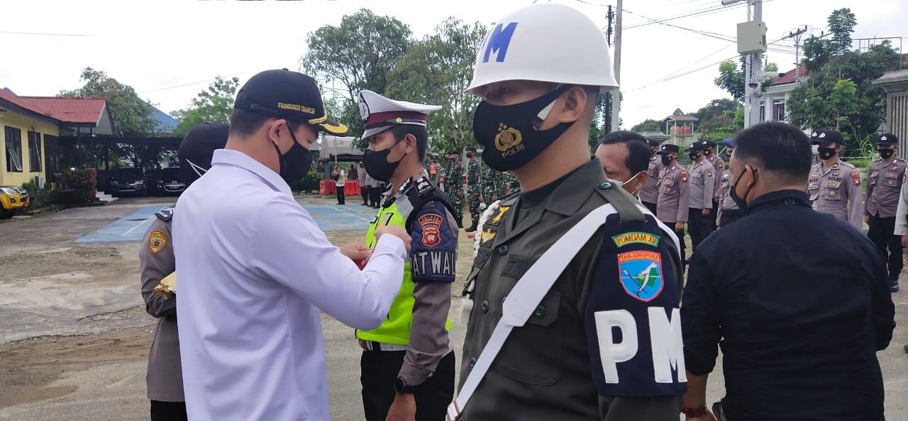 Kalak BPBD Kapuas Hulu Menghadiri Apel Gelar Pasukan Operasi Ketupat 2021